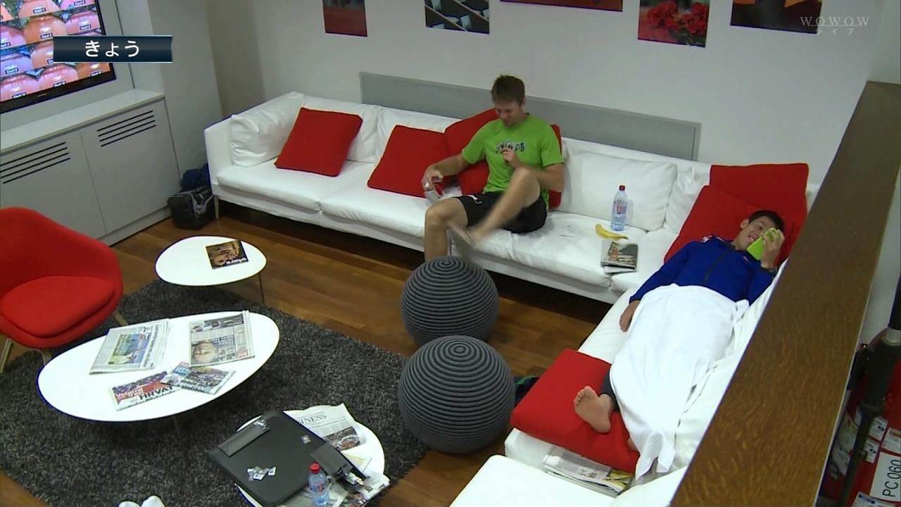 全仏オープンテニス、試合前にスマホでエロ動画を見る錦織圭