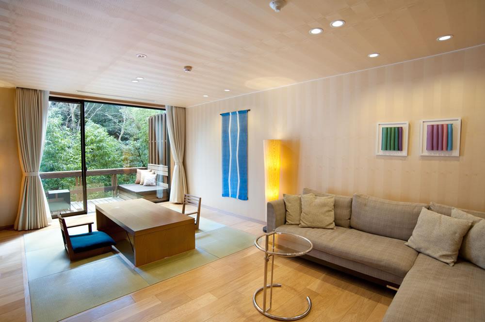柏木由紀と手越祐也が宿泊した箱根・箱根翠松園の部屋