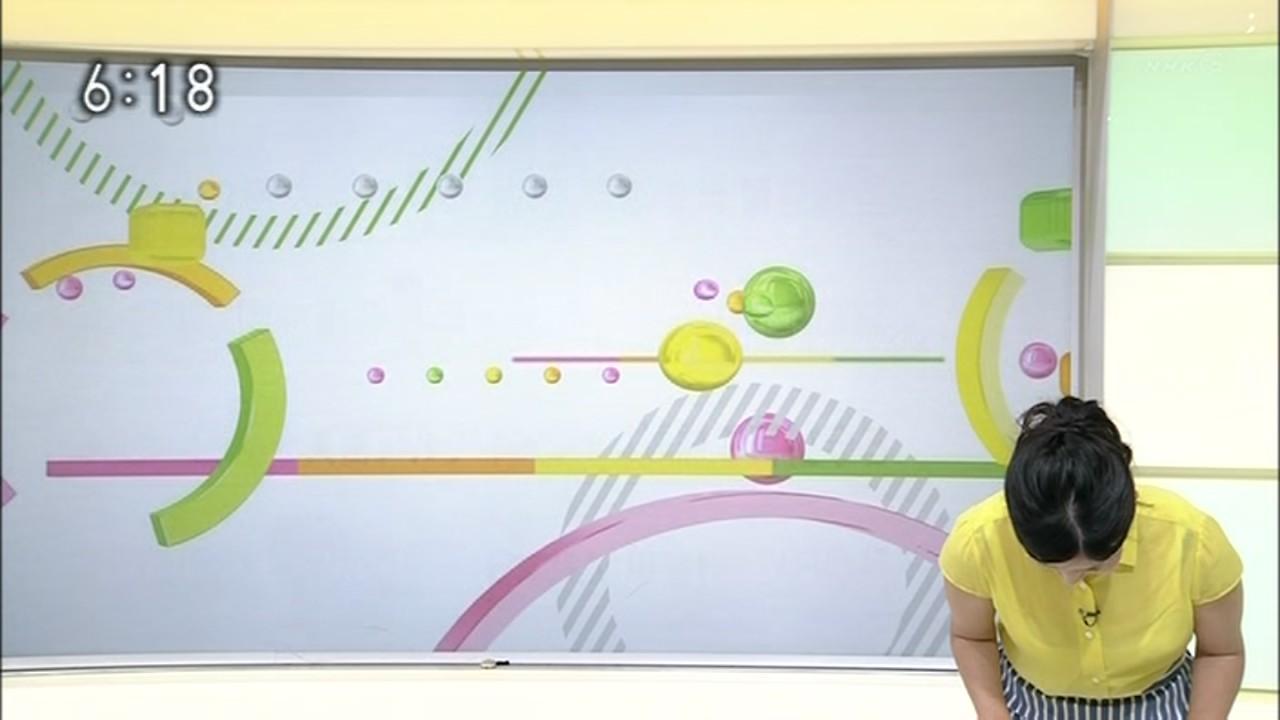 NHK「おはよう日本」で森花子アナのブラウスが透けてブラジャー見えてる
