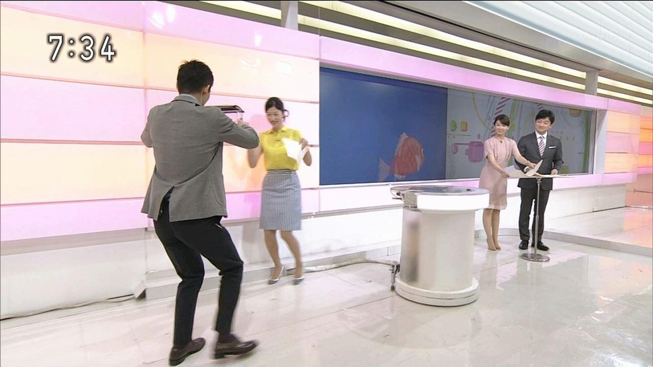 NHK「おはよう日本」でスケスケのブラウスを着た森花子アナ