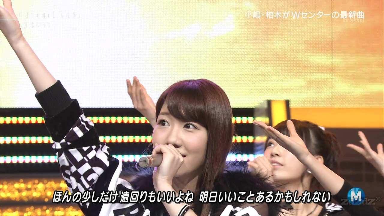 NEWS手越祐也と共演したミュージックステーションで「Green Flash」を歌う柏木由紀