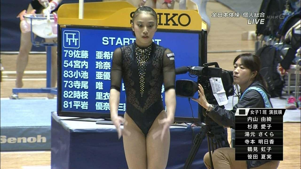 全日本体操に超ハイレグレオタードで出場した湯元さくら