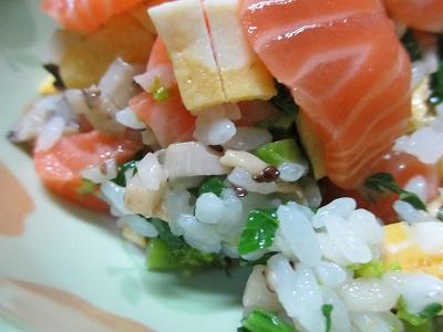 こんな感じのちらし寿司です