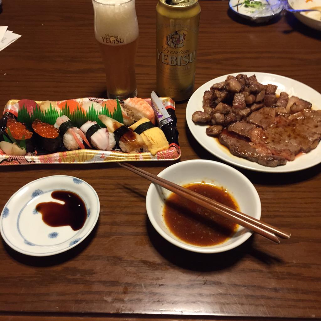 お肉とお寿司