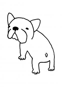 振り向き犬