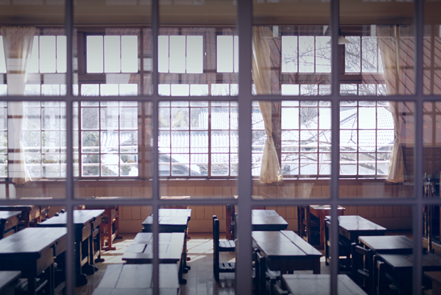 廊下から撮った教室~♪