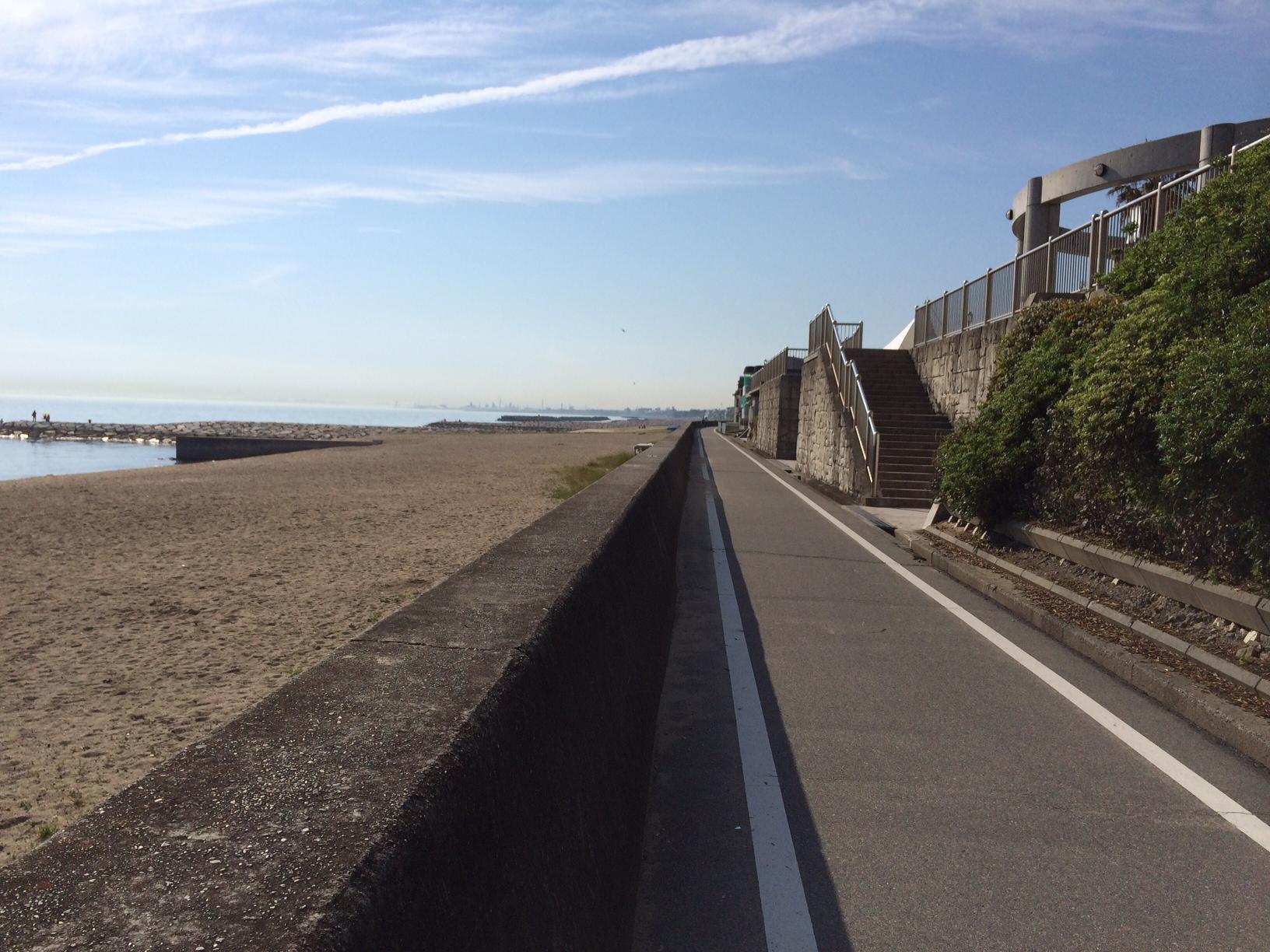 浜の散歩道西向き150519