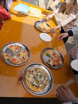 ピザ焼きの春3
