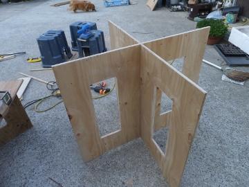 作業台の脚作り3