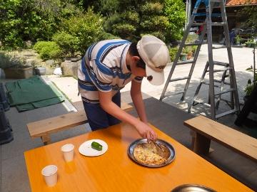 ピザとイノシシ肉3
