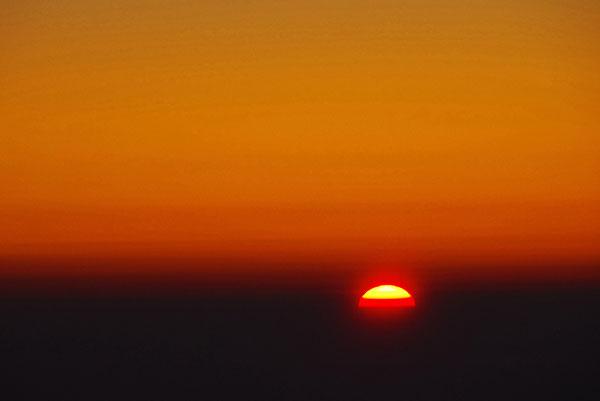 雲上の落日