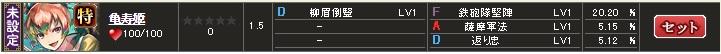 スキル 亀寿1