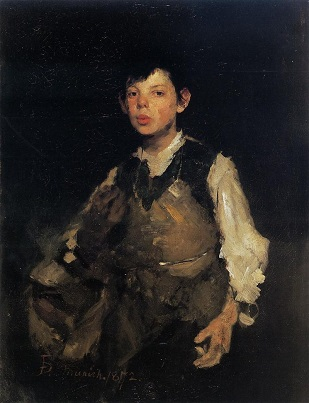 The Whistling Boy, Frank Duveneck (1872)