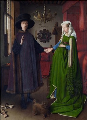 Portrait of Giovanni Arnolfini and his Wife 1434,ナショナル・ギャラリー