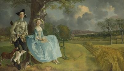 Thomas Gainsboroughアンドルーズ夫妻像 1748-49頃 ナショナル・ギャラリー(ロンドン)