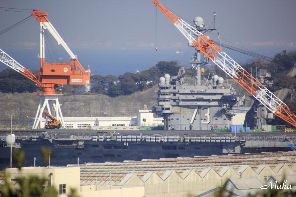2014.12.28 原子力空母George Washington (米海軍横須賀基地港:神奈川県横須賀市)