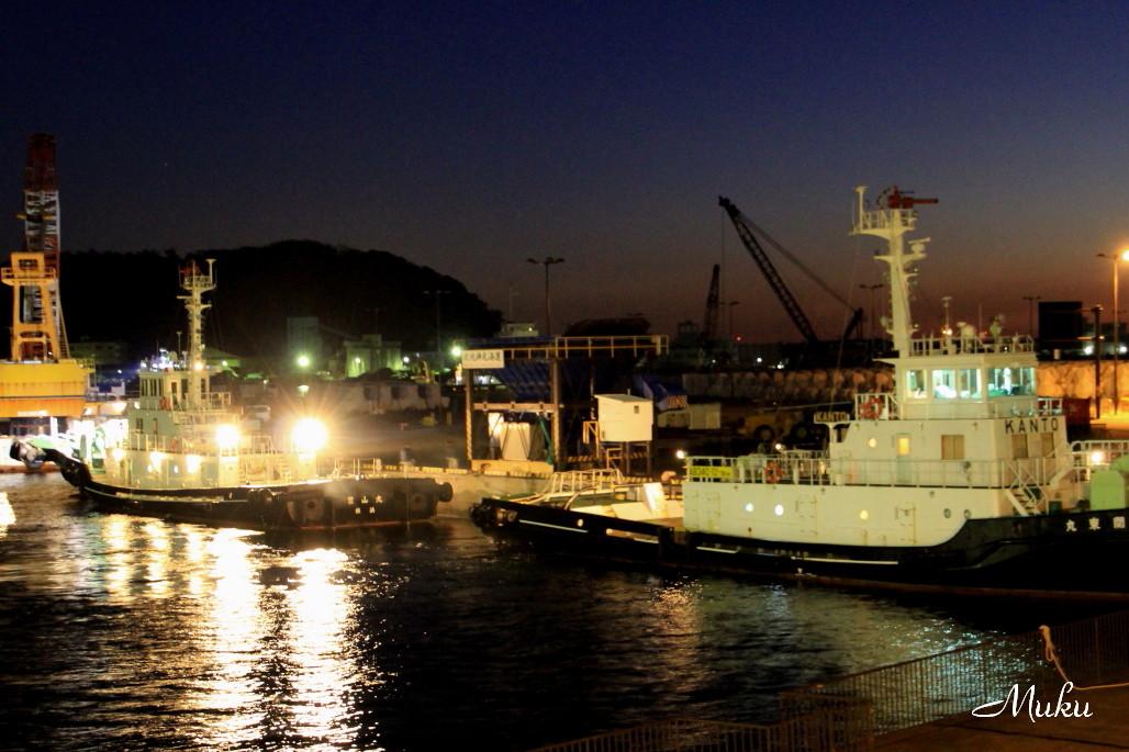 2014.12.26 夜明け前 (久里浜港:神奈川県横須賀市)