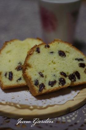 レーズンとアーモンドのパウンドケーキ