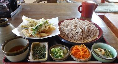①十割そば 野菜天ぷら さつき食堂 20150613