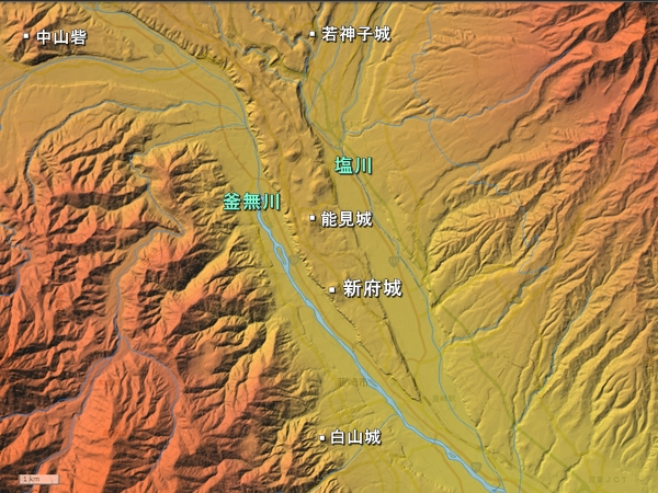 新府城広域図