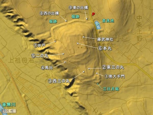 新府城地形図