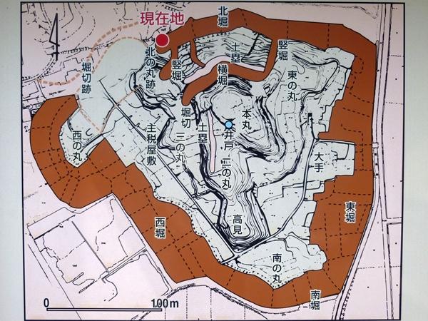 久野城縄張図
