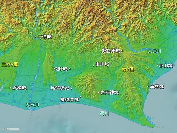 遠江地形図