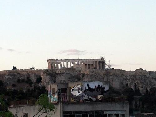 アテネ_ホテルから見るアクロポリス