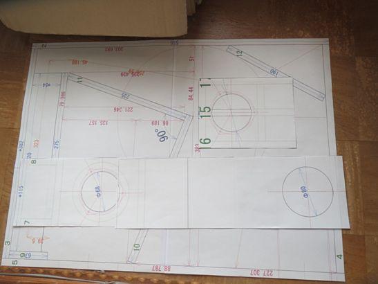 200円ユニットバックロードバスレフ試作箱改 製作開始 1