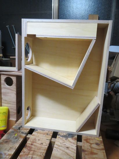 200円ユニットバックロードバスレフ試作箱改 製作中 2