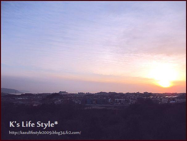 明石海峡夕日