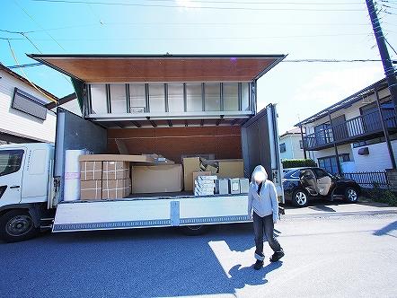 京繊維壁をボード化する・・・2015 008 大型資材届く