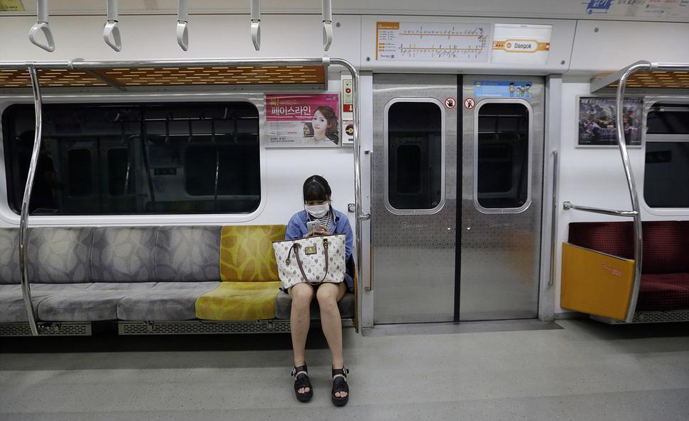 乗客1人の電車