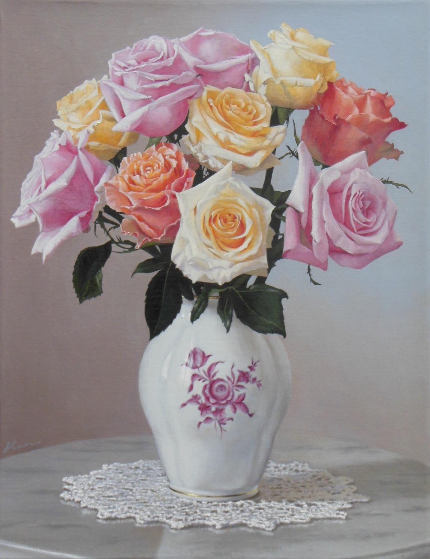 F6号「花瓶の薔薇」
