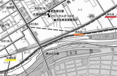 東雁来 地図 バス路線