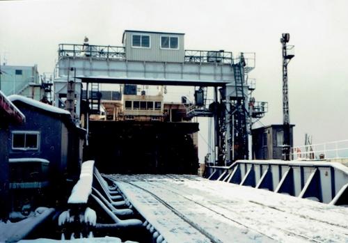 函館港 青函連絡船 船尾 1988年