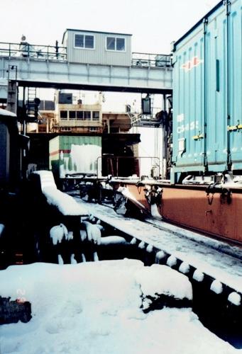 函館港 青函連絡船 船尾 1988年②