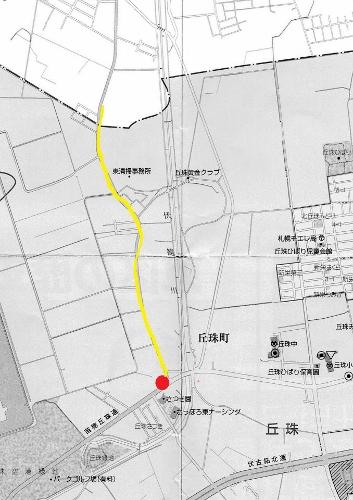 丘珠 地図 三叉路周辺①