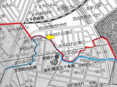 北区東区の境目 地図③