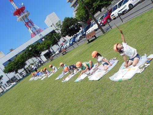 子どものびびび+丸亀城を描く:おまけコーナー