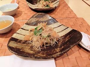アナゴの刺身サラダ (2)