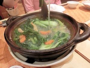 中国野菜の鍋