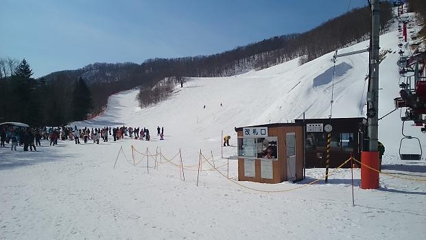 スキー場最終日