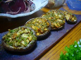 椎茸 フキ味噌