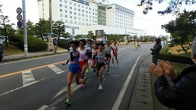 一般女子10km 2位集団