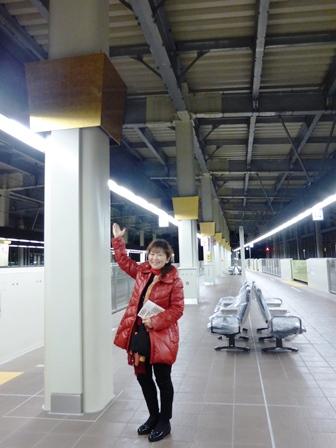 金沢新幹線ホーム 人入り