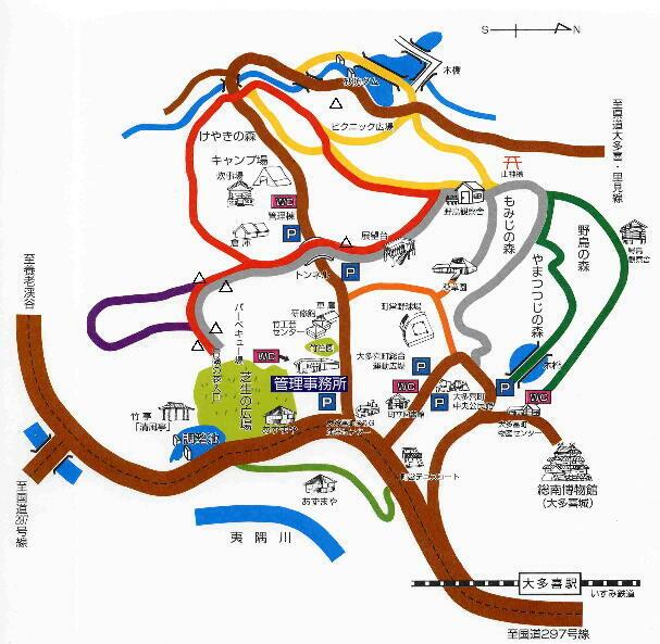 大多喜県民の森周辺道路