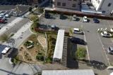 フレール長田北側駐車場(再開発前の旧公団住宅)