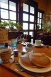 訪問先住宅そばの喫茶店でちょっと休憩