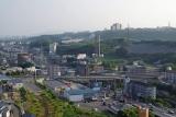 神戸市営住宅・ベルデ名谷 6番館から明石海峡方面
